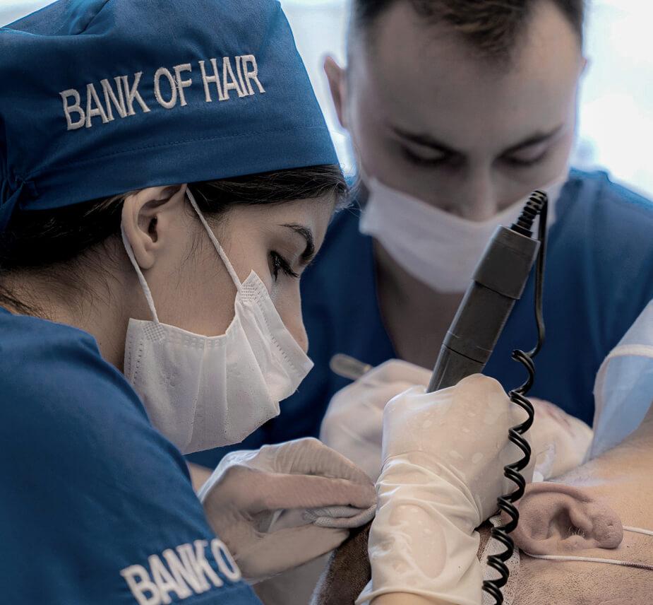 Bank of Hair